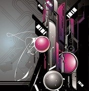 The Trend of Dynamic Science and Technology Theme Vector Graphic 3