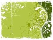 Trend Green Flowers Pattern