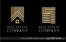 Logo or immobilier luxe