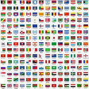 Plane around the world the regional flag and regional flag v