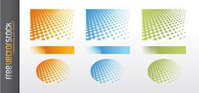 Dotted Background Vector Pattern