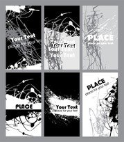 Black And White Rust Card Design Template Vector 1
