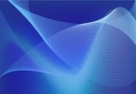 Abstract Blue Business Technology Wave Lines