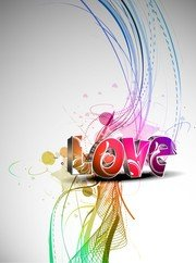 Cool Vector tridimensional amor Wordart