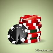 POKER CHIPS VECTOR CLIP ART.eps