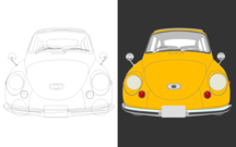 Free Classic Car vector Art in Yellow