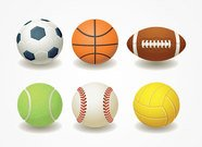 Football, basket, Rugby, Teniss & balle de Baseball