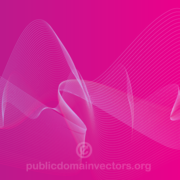 Vector Pink Background Design with Flowing Lines