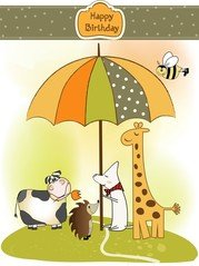 Giraffa Greeting Card 02