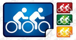 Angular tandem bicycle web2.0 icon material