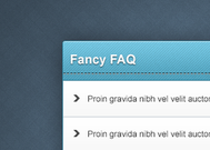 Web Element PSD Fancy FAQ