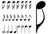Musical Notes Set