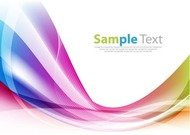 Colorful Abstract Design Wave Background