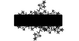 Banner with Flowers Text Frame