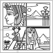 Egyptian Line Drawing 4 trellis