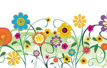 Vector Flowers And Florals Floral Garden Scenery