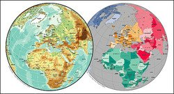 Vector map of the world exquisite material - the European sp