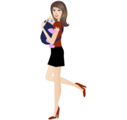 Mother Holding Baby Vector Image Free