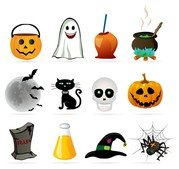 Halloween design element icon