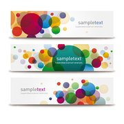 COLORFUL BUBBLE VECTOR BANNERS.eps