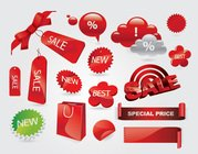 Sale Labels, Shopping Stickers and Tags Vector Set (Free)