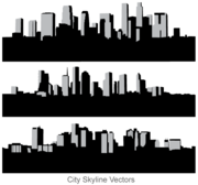 Ville libre Skyline Vector Art