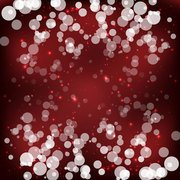 Red Sparkling Bokeh Background