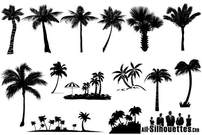 Palm Tree Vector Silhouettes gratuit