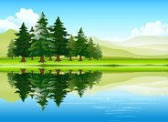 Free vector about free cartoon nature pictures