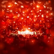 Vector Valentine's Day Red Background