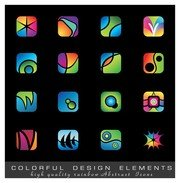 exquisite colorful icons