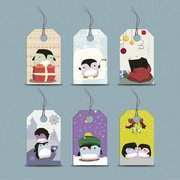 Funky pinguino stagionale prezzo Tag Set