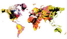 The colors of the world map