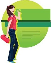 Jeans Girl Vector 12