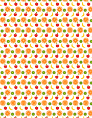 A fruity free seamless vector pattern