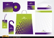 Green Purple Stationery packaging design