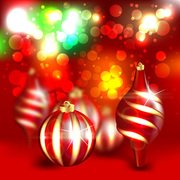 Abstract Background Christmas Ornaments