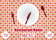 Gratis Vector Retro Restaurant Menu ontwerp