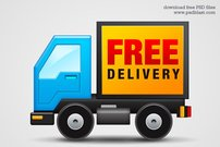 Free Delivery Icon (PSD)