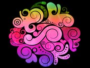 Abstract vector illustration colorful tide of Abstract