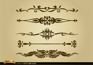 Ornamental dividers set