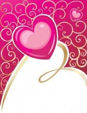 Stock Vector: Vector abstract pink love
