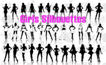 36 Girls Silhouettes