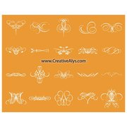 CALLIGRAPHIC FLORAL VECTOR SET.eps