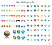 Glass Marbles Vector Set