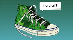 The trend of canvas shoes