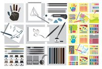 Vector drawing tools material