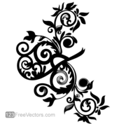 Hand Drawn Swirl Floral