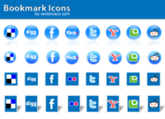 Social Icon Bookmark Vector Free