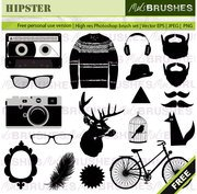 Hipster Vector Graphics Free
